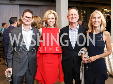 Michael DeSantis, Katherine Bradley, Patrick Baugh, Marianne Powell. Photo by Tony Powell. 2017 PEN Faulkner Gala. The Showroom. October 16, 2017