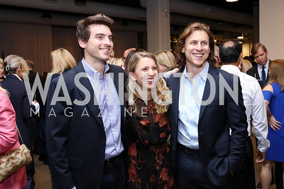 Nicholas, Laura, and Michael Haft. Photo by Tony Powell. 2017 PEN Faulkner Gala. The Showroom. October 16, 2017