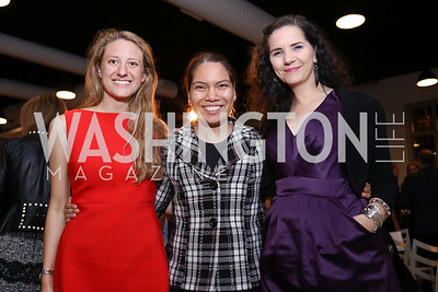 Alexandra Petrides, Brenda Martinez, and Hannah Tinti. Photo by Tony Powell. 2017 PEN Faulkner Gala. The Showroom. October 16, 2017