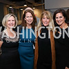 Connie Carter, Ginger Pape, Ginny Grenham, Cindy Howar. Photo by Tony Powell. 2017 PEN Faulkner Gala. The Showroom. October 16, 2017