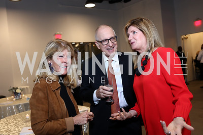 Ginny Grenham, David Skorton and Robin Davisson. Photo by Tony Powell. 2017 PEN Faulkner Gala. The Showroom. October 16, 2017