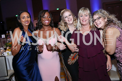 Elleni Michele, Tina Attilla, Linsey Berens, Bev Greene, Sultanna Tokhi. Photo by Tony Powell. 2017 Capital Caring Gala. MGM National Harbor. November 11, 2017