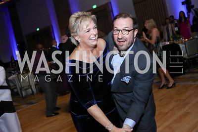 Malene Davis, Capital Caring Director of Planned Giving & Major Gifts Jared Hughes. Photo by Tony Powell. 2017 Capital Caring Gala. MGM National Harbor. November 11, 2017