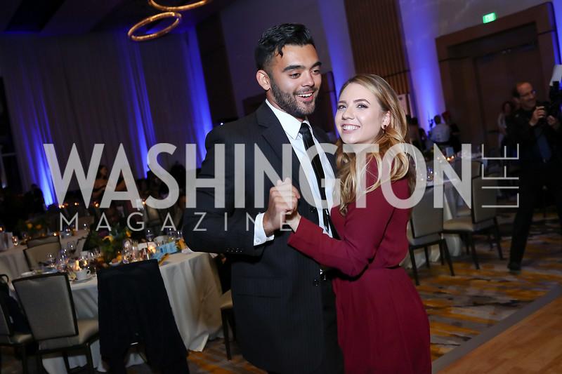 Matt Webb, Polina Wells. Photo by Tony Powell. 2017 Capital Caring Gala. MGM National Harbor. November 11, 2017