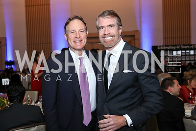 Sen. Evan Bayh, Scott Stewart. Photo by Tony Powell. 2017 Capital Caring Gala. MGM National Harbor. November 11, 2017