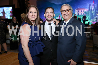 Lisa Zuccari, Jarred Zuccari, Alan Zuccari. Photo by Tony Powell. 2017 Capital Caring Gala. MGM National Harbor. November 11, 2017