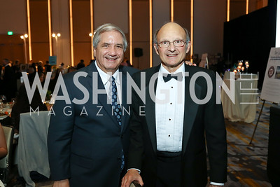 Alan Zuccari, Bill Novelli. Photo by Tony Powell. 2017 Capital Caring Gala. MGM National Harbor. November 11, 2017