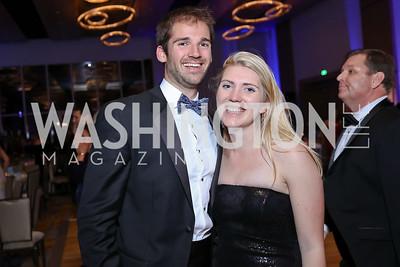 John Burns, Faith Lyons. Photo by Tony Powell. 2017 Capital Caring Gala. MGM National Harbor. November 11, 2017