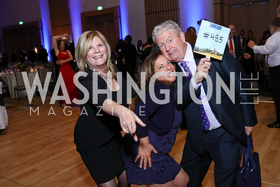 Debra Lyle, Sue Hargreaves, Scott Hargreaves. Photo by Tony Powell. 2017 Capital Caring Gala. MGM National Harbor. November 11, 2017