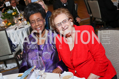 Bernice Harper, Erma Smith. Photo by Tony Powell. 2017 Capital Caring Gala. MGM National Harbor. November 11, 2017