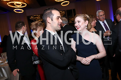 Andy Siegel, Emily Annunziata. Photo by Tony Powell. 2017 Capital Caring Gala. MGM National Harbor. November 11, 2017