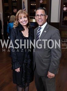 Rebecca Cooper, Rep. Anthony Brown. Photo by Tony Powell. 2017 PenFed Night of Heroes Gala. Trump Hotel. May 4, 2017