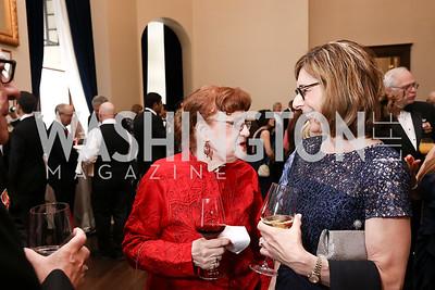 Claudia Hume, Cathy Cody. Photo by Tony Powell. 2017 PenFed Night of Heroes Gala. Trump Hotel. May 4, 2017