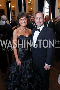 Lisa and James Schenck. Photo by Tony Powell. 2017 PenFed Night of Heroes Gala. Trump Hotel. May 4, 2017