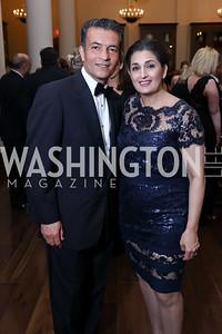Hamid Fallahi and Tammy Darvish. Photo by Tony Powell. 2017 PenFed Night of Heroes Gala. Trump Hotel. May 4, 2017