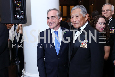 Veterans Affairs Sec. David Shulkin, Fred Pang. Photo by Tony Powell. 2017 PenFed Night of Heroes Gala. Trump Hotel. May 4, 2017
