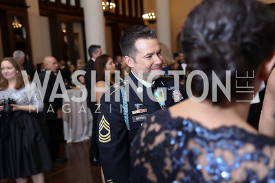 Master Sgt. Jake Brooks. Photo by Tony Powell. 2017 PenFed Night of Heroes Gala. Trump Hotel. May 4, 2017