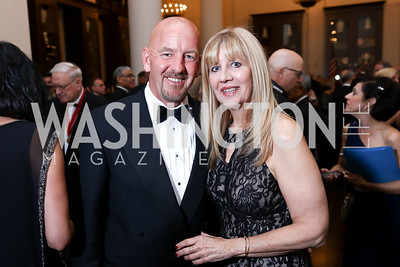 Tim McGale, Libby Romer. Photo by Tony Powell. 2017 PenFed Night of Heroes Gala. Trump Hotel. May 4, 2017