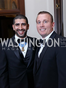 Medal Of Honor Recipents Cpt. Florent Groberg and Sgt. Dakota Meyer. Photo by Tony Powell. 2017 PenFed Night of Heroes Gala. Trump Hotel. May 4, 2017