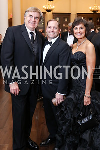 Toyota President Bob Carter, James and Lisa Schenck. Photo by Tony Powell. 2017 PenFed Night of Heroes Gala. Trump Hotel. May 4, 2017