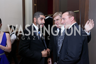 Florent Groberg, Toyota President Bob Carter, Sgt. Dakota Meyer. Photo by Tony Powell. 2017 PenFed Night of Heroes Gala. Trump Hotel. May 4, 2017