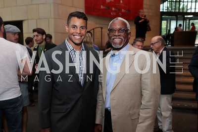 Steven Bumbry and Al Bumbry. Photo by Tony Powell. 196th Anniversary of the Independence of Peru. NMAI. July 27, 2017