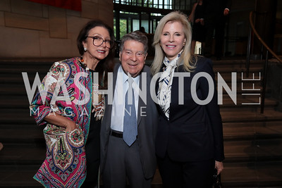 Aniko Gaal Schott, Calvin Cafritz, Jane Cafritz. Photo by Tony Powell. 196th Anniversary of the Independence of Peru. NMAI. July 27, 2017