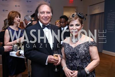 Leo Sahakian, Annie Totah. Photo by Tony Powell. 2017 Phillips Collection Gala. May 19, 2017