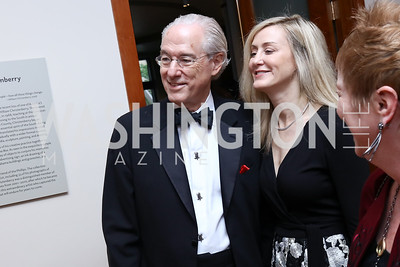 George Vradenburg, Alissa Vradenburg. Photo by Tony Powell. 2017 Phillips Collection Gala. May 19, 2017
