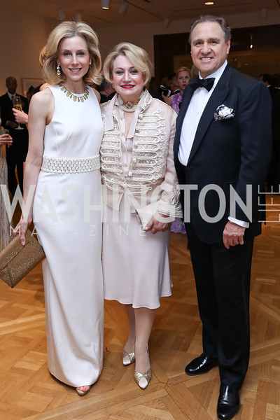 Katherine Bradley, Hilda Ochoa Brillembourg and Arturo Brillembourg. Photo by Tony Powell. 2017 Phillips Collection Gala. May 19, 2017