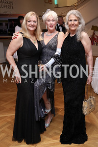 Robin Walker, Robin Phillips, Barbara Hawthorn. Photo by Tony Powell. 2017 Phillips Collection Gala. May 19, 2017