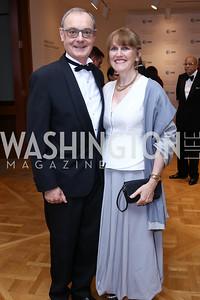 EU Amb. David O'Sullivan, Agnes O'Hare. Photo by Tony Powell. 2017 Phillips Collection Gala. May 19, 2017
