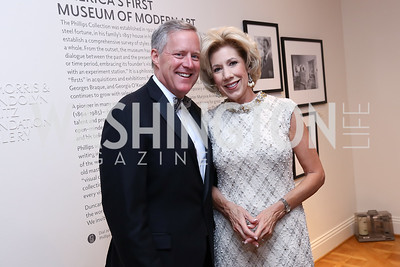 Rep. Mark and Debbie Meadows. Photo by Tony Powell. 2017 Phillips Collection Gala. May 19, 2017