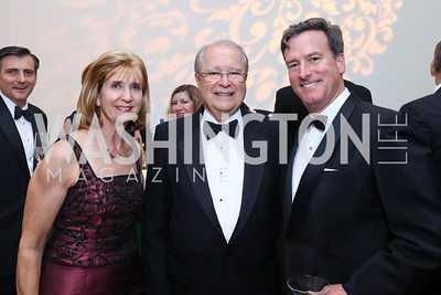 Paula Dobriansky, Brazil Amb. Sergio Amaral, Bruce Friedman. Photo by Tony Powell. 2017 Phillips Collection Gala. May 19, 2017