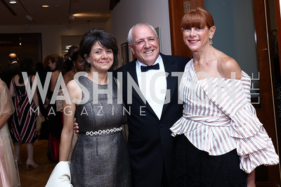 Marilia Duffles, Jeff and Lauri Zell. Photo by Tony Powell. 2017 Phillips Collection Gala. May 19, 2017