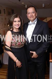 Kay and Sunny Kapoor. Photo by Tony Powell. 2017 Phillips Collection Gala. May 19, 2017