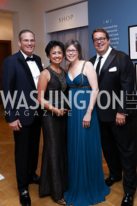 John and Rose Hilderbrandt, Lori Jenkins and George Swygert. Photo by Tony Powell. 2017 Phillips Collection Gala. May 19, 2017
