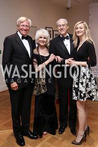 John Hagedorn, Diane Rehm, George Vradenburg, Alissa Vradenburg. Photo by Tony Powell. 2017 Phillips Collection Gala. May 19, 2017
