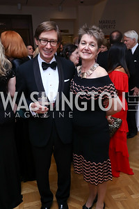 Germany Amb. Peter Wittig, Dorothy Kosinski. Photo by Tony Powell. 2017 Phillips Collection Gala. May 19, 2017