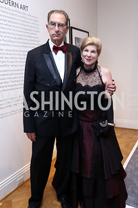 David Reines and Nina Totenberg. Photo by Tony Powell. 2017 Phillips Collection Gala. May 19, 2017