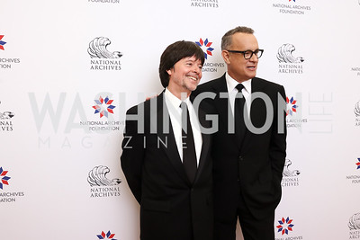 Ken Burns, Tom Hanks. Photo by Tony Powell. 2017 Records of Achievement Gala. Archives. October 21, 2017