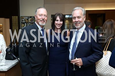 Sid Beckstead, Cynthia Schmid, Tom Liljenquist. Photo by Tony Powell. Rolex Baselworld. Tysons Galleria Liljenquist & Beckstead. May 17, 2017