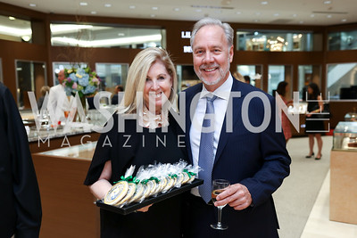 Sherrie Beckstead, Tom Liljenquist. Photo by Tony Powell. Rolex Baselworld. Tysons Galleria Liljenquist & Beckstead. May 17, 2017
