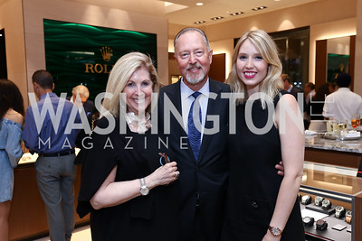 Sherrie, Sid, and Sara Beckstead. Photo by Tony Powell. Rolex Baselworld. Tysons Galleria Liljenquist & Beckstead. May 17, 2017