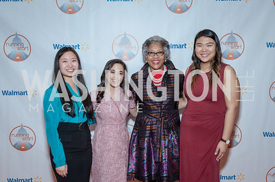 Lizi Xiong, Sophia Houdaigui, Congresswoman Joyce Beatty, Luck Sasiphong. Photo by Tony Powell. 2017 Running Start Women to Watch. NMWA. March 20, 2017