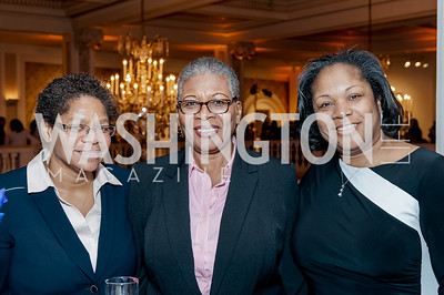 Denise Randolph, Cynthia Harmon, Roz Brooks. Photo by Tony Powell. 2017 Running Start Women to Watch. NMWA. March 20, 2017