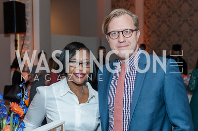 Wanda Simmons, Jeff Zubricki. Photo by Tony Powell. 2017 Running Start Women to Watch. NMWA. March 20, 2017