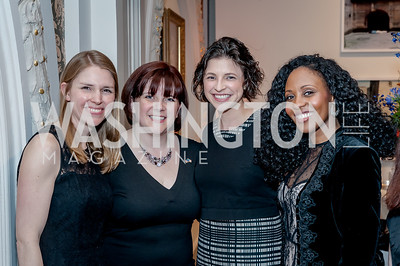 Jen Drake, Laura Mills, Lily Roberts, Kara-Tameika Watkins. Photo by Tony Powell. 2017 Running Start Women to Watch. NMWA. March 20, 2017
