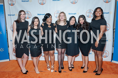 Meghan Pearce, Jazmin Perez, Ashanta Woodard, Samantha Wilhelm, Sarah Youngdahl, Megan Chapa, Sydney Burns. Photo by Tony Powell. 2017 Running Start Women to Watch. NMWA. March 20, 2017