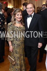 Annie Totah, Leo Sahakian. Photo by Tony Powell. 2017 Russian Ball. January 14, 2017
